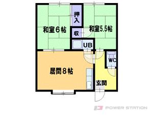 札幌市東区北44条東2丁目0賃貸アパート間取図面