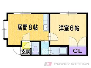 札幌市東区北44条東2丁目1賃貸アパート間取図面