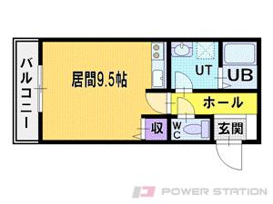 栄町1Rマンション図面