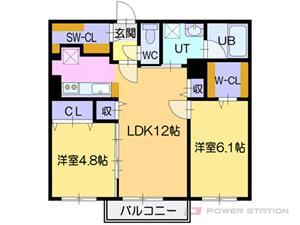 NOBLE Charmant:6号室タイプ(2LDK)