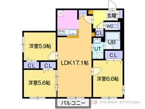 NOBLE Charmant:7号室タイプ(3LDK)
