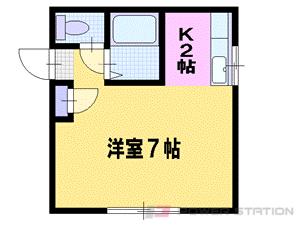 札幌市東区北43条東14丁目0賃貸アパート間取図面
