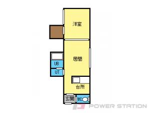 札幌市東区北44条東12丁目1賃貸アパート間取図面