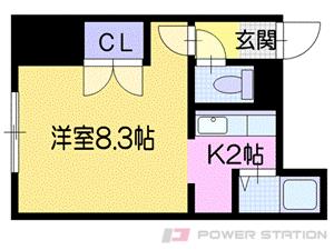 札幌市東区北44条東14丁目0賃貸アパート間取図面