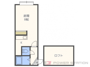 札幌市東区北41条東15丁目1賃貸アパート間取図面