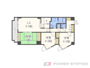 札幌市東区北45条東16丁目0賃貸マンション間取図面