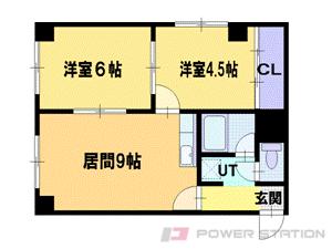 札幌市東区北42条東17丁目1賃貸マンション間取図面