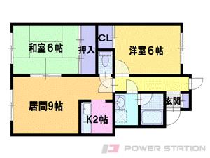 札幌市東区北43条東18丁目1賃貸アパート間取図面