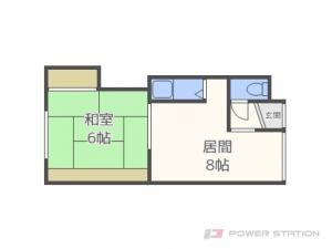 太平1DKアパート図面