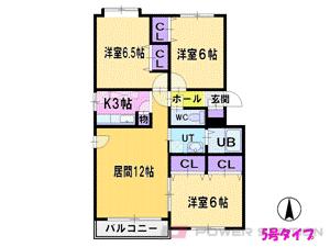札幌市東区北47条東13丁目0賃貸マンション間取図面