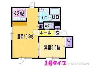 札幌市東区北48条東15丁目0賃貸アパート間取図面