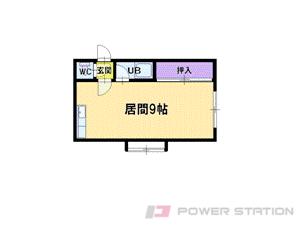 栄町1Rアパート図面