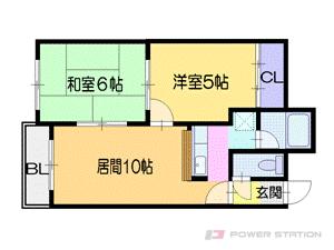 栄町2LDKマンション図面