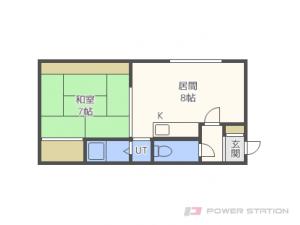 札幌市東区北49条東13丁目0賃貸アパート間取図面