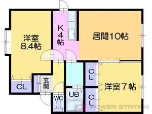 札幌市東区北49条東14丁目0賃貸アパート間取図面