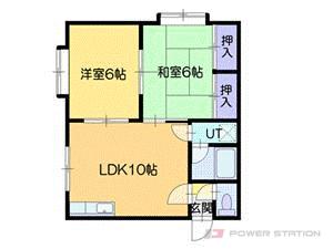 札幌市東区北丘珠3条1丁目1賃貸アパート間取図面
