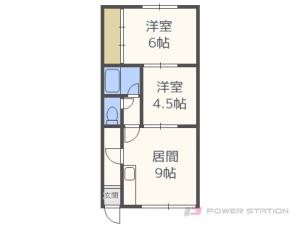 札幌市東区北丘珠5条3丁目1賃貸アパート間取図面