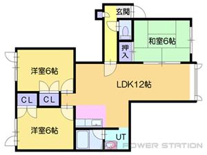 札幌市東区北丘珠4条3丁目0賃貸アパート間取図面