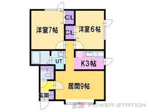 札幌市東区中沼西3条1丁目0賃貸アパート間取図面