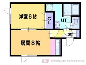 札幌市東区中沼西5条2丁目0賃貸アパート間取図面