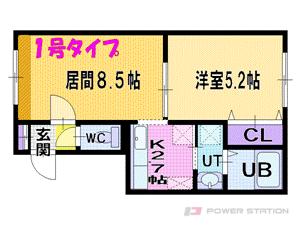 札幌市東区北33条東16丁目1賃貸マンション間取図面