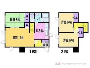 札幌市東区北35条東28丁目0一戸建貸家間取図面