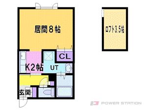 札幌市東区北38条東15丁目1賃貸アパート間取図面