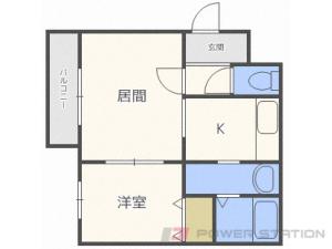 環状通東1LDKマンション図面