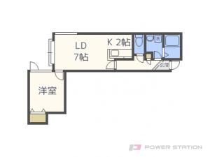 札幌市東区伏古9条1丁目0賃貸アパート間取図面