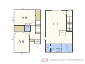 札幌市東区北23条東1丁目0テラスハウス間取図面