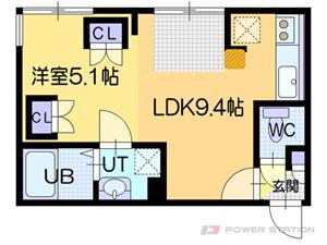 札幌市東区北10条東13丁目1賃貸マンション間取図面
