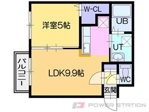 札幌市東区北31条東13丁目0賃貸マンション間取図面