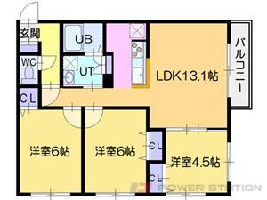 La luce北41条:2号室タイプ(3LDK)