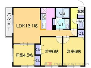 La luce北41条:3号室タイプ(3LDK)