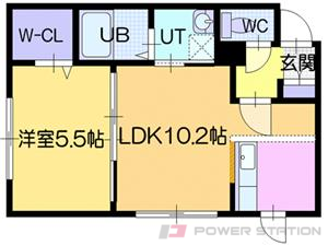札幌市東区北42条東15丁目0賃貸マンション間取図面