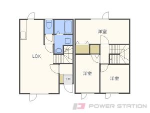 札幌市東区東雁来9条1丁目1テラスハウス間取図面