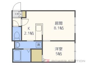札幌市東区北17条東9丁目0賃貸マンション間取図面