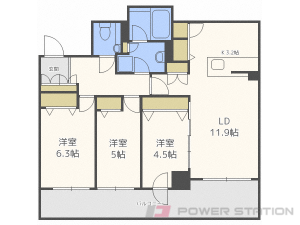 札幌3LDK分譲リースマンション図面