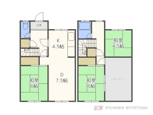札幌市東区北18条東2丁目0一戸建貸家間取図面