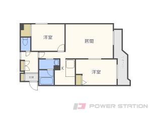札幌市東区北20条東19丁目1賃貸マンション間取図面