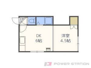 札幌市東区北27条東2丁目0賃貸アパート間取図面
