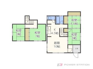 札幌市東区北18条東17丁目0一戸建貸家間取図面