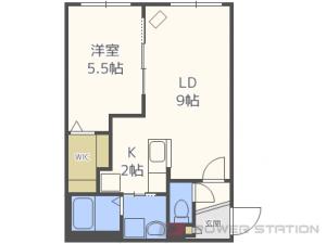 札幌市東区北17条東18丁目0賃貸マンション間取図面