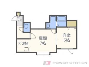 札幌市東区北39条東9丁目01賃貸アパート間取図面