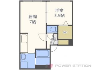 札幌市東区北7条東8丁目01賃貸マンション間取図面