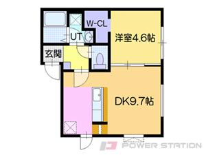 札幌市東区北37条東6丁目01賃貸アパート間取図面