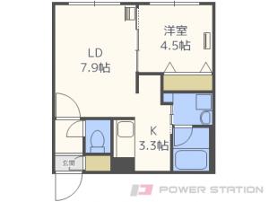 札幌市東区北43条東1丁目1賃貸マンション