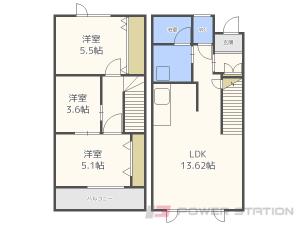 札幌市東区伏古13条3丁目01テラスハウス間取図面