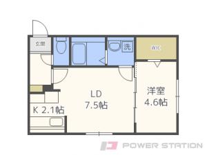 札幌市東区北23条東1丁目01賃貸マンション間取図面