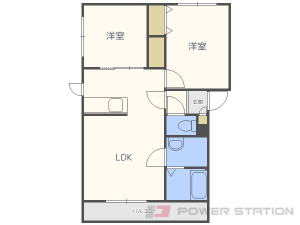 札幌市東区本町2条8丁目0賃貸アパート間取図面